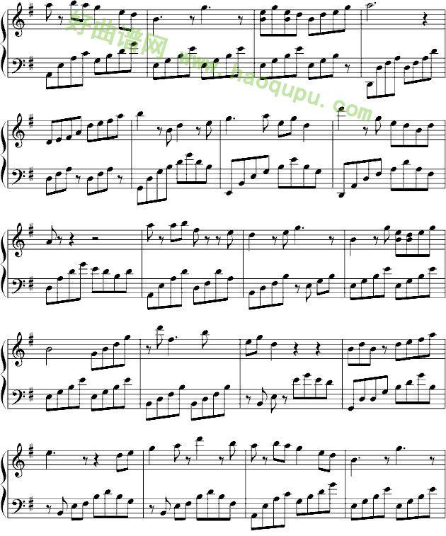 梁祝钢琴谱 梦中的婚礼钢琴谱