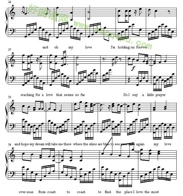钢琴乐谱c4-y Love 钢琴谱