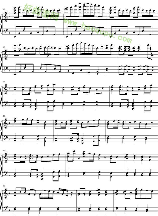 千本樱 钢琴谱