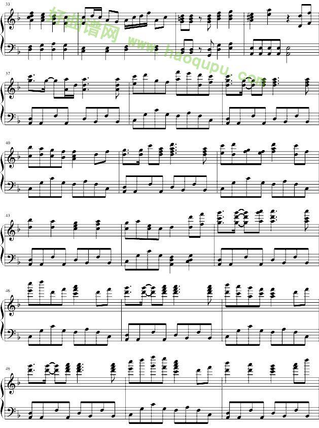 日本民歌樱花钢琴曲谱-千本樱 钢琴谱