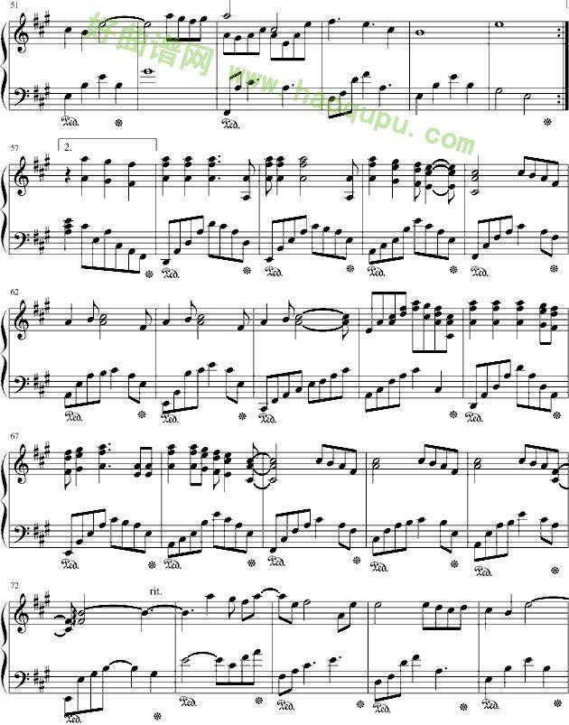 偏爱 钢琴谱