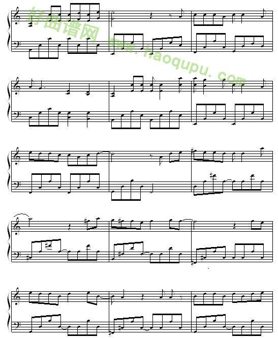 《情非得已》 - 钢琴谱