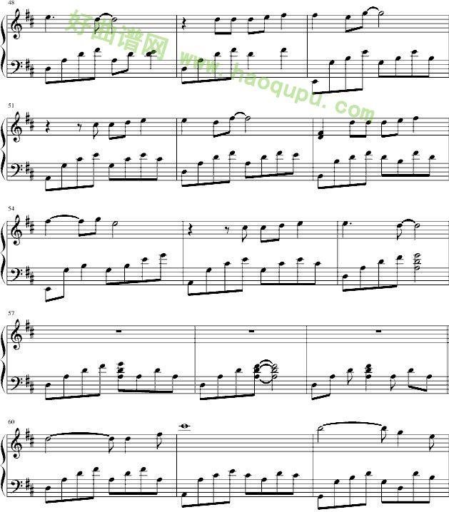 《想你的夜》 - 钢琴谱图片