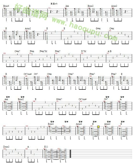 没那么简单 E调 吉他谱 吉他曲谱 吉他歌谱 好曲谱网