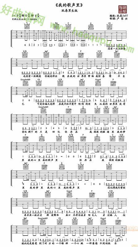 美版 吉他谱 吉他曲谱 吉他歌谱 好曲谱网