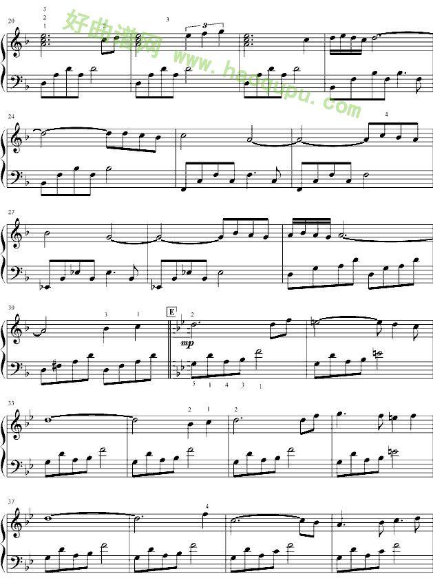 风之谷 钢琴谱