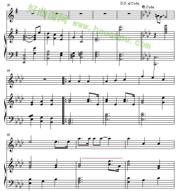 求放飞真情的曲谱-真心英雄 钢琴谱