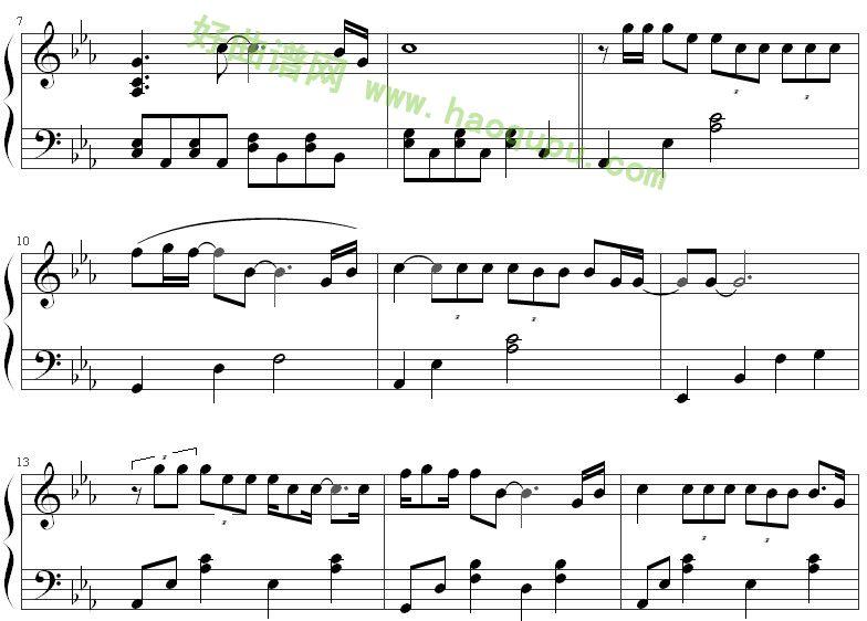 《北京北京》钢琴谱第2张