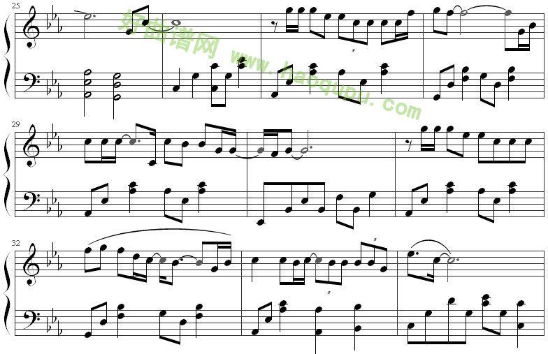《北京北京》钢琴谱第4张