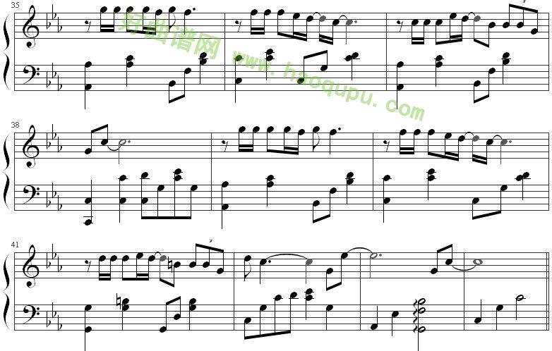 《北京北京》钢琴谱第5张
