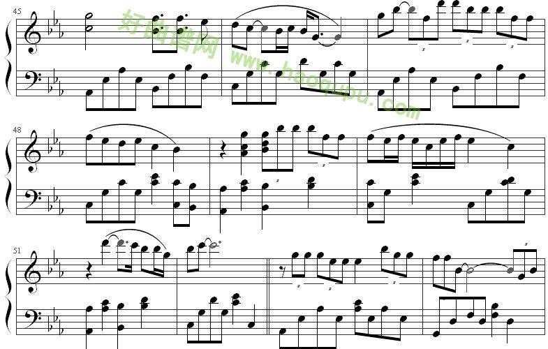 《北京北京》钢琴谱第6张