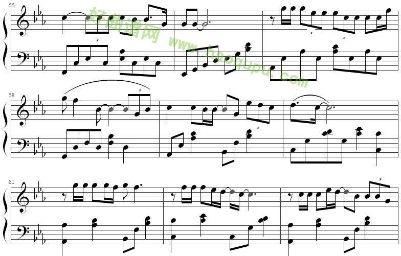 《北京北京》钢琴谱第7张