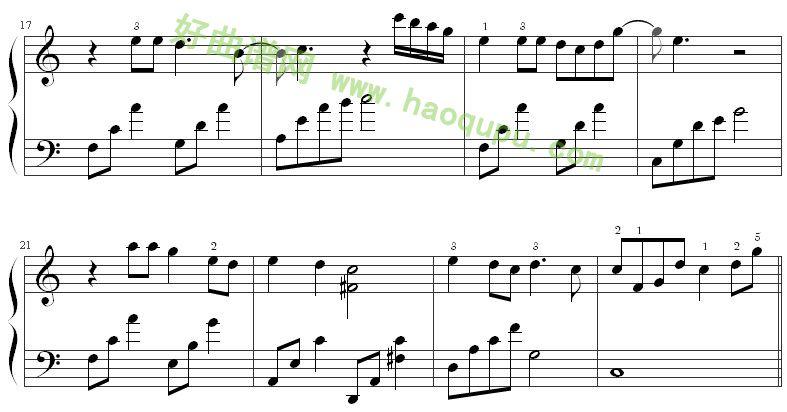 《时间煮雨》钢琴谱第3张