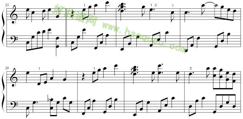 《时间煮雨》钢琴谱第4张