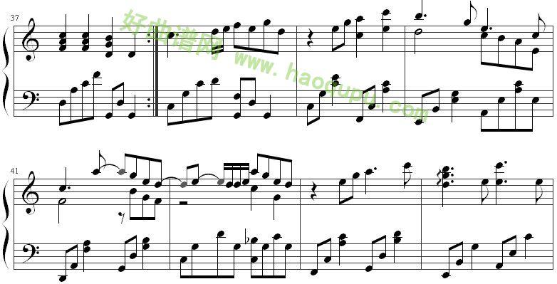 《时间煮雨》钢琴谱第6张