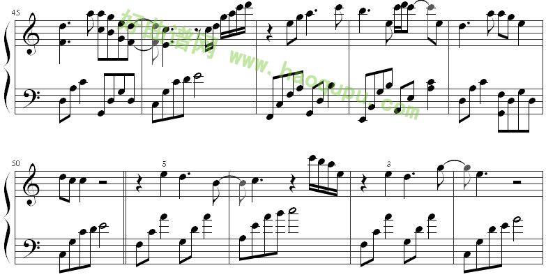 《时间煮雨》钢琴谱第7张