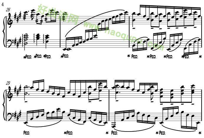 梅花三弄 钢琴谱
