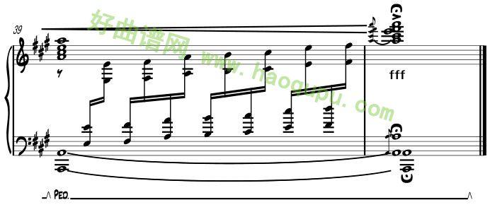 《梅花三弄》钢琴谱第8张
