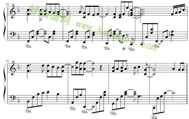 幸运符号 钢琴谱