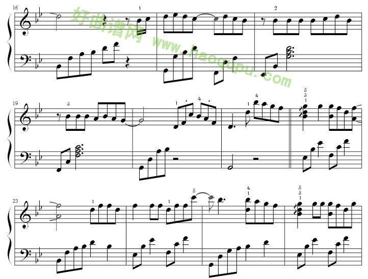 虹之间 钢琴谱
