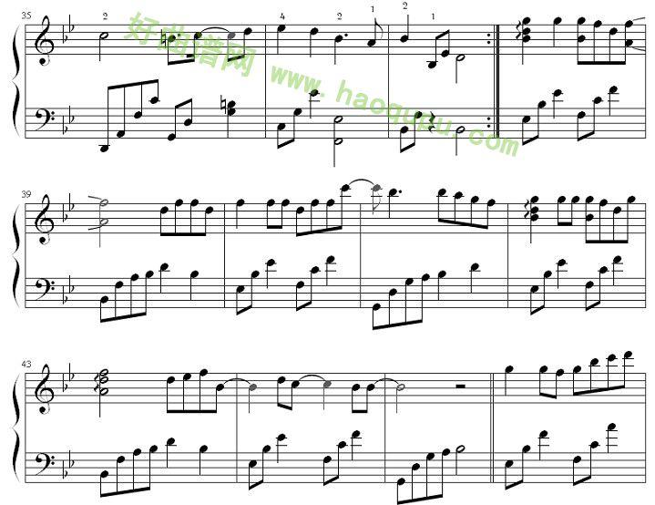 《虹之间》钢琴谱第5张