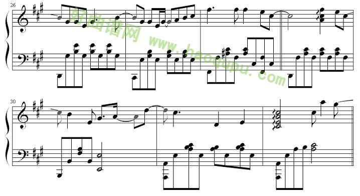 我好想你 钢琴谱