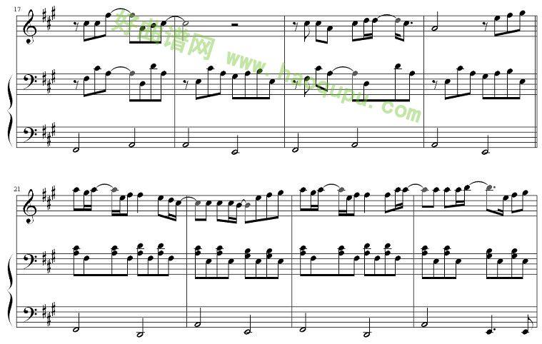 平凡之路 钢琴谱
