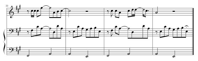 好想你左右手钢琴谱子图片