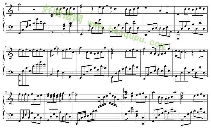 钢琴曲谱《他》-他说 钢琴谱