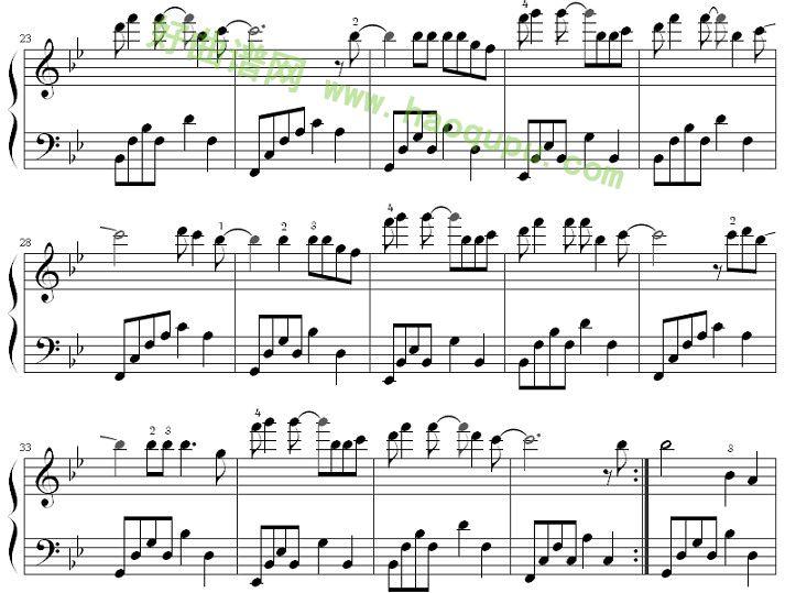 夜空中最亮的星 钢琴谱