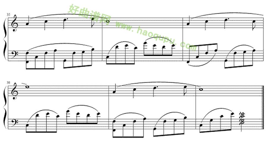 《春野-one day in spring》-班得瑞 bandari钢琴曲系列 钢琴谱
