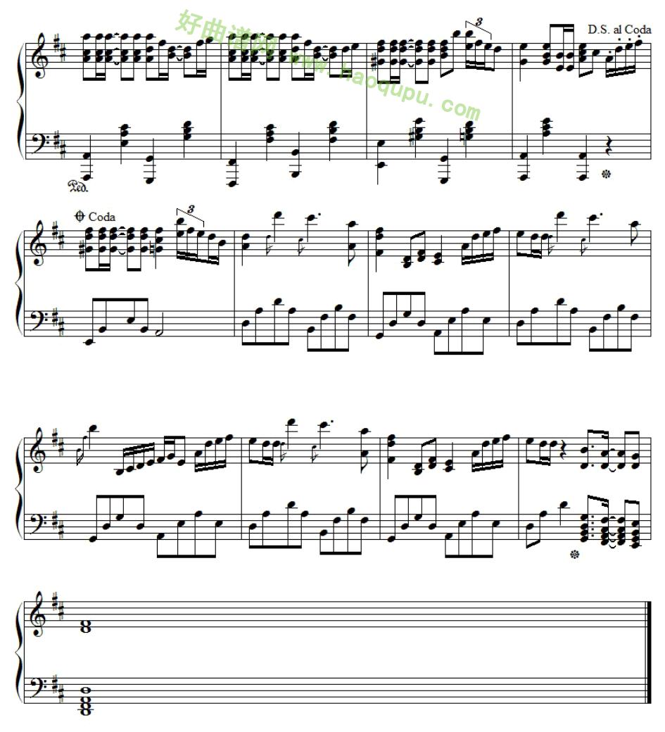 夏天久石让钢琴谱