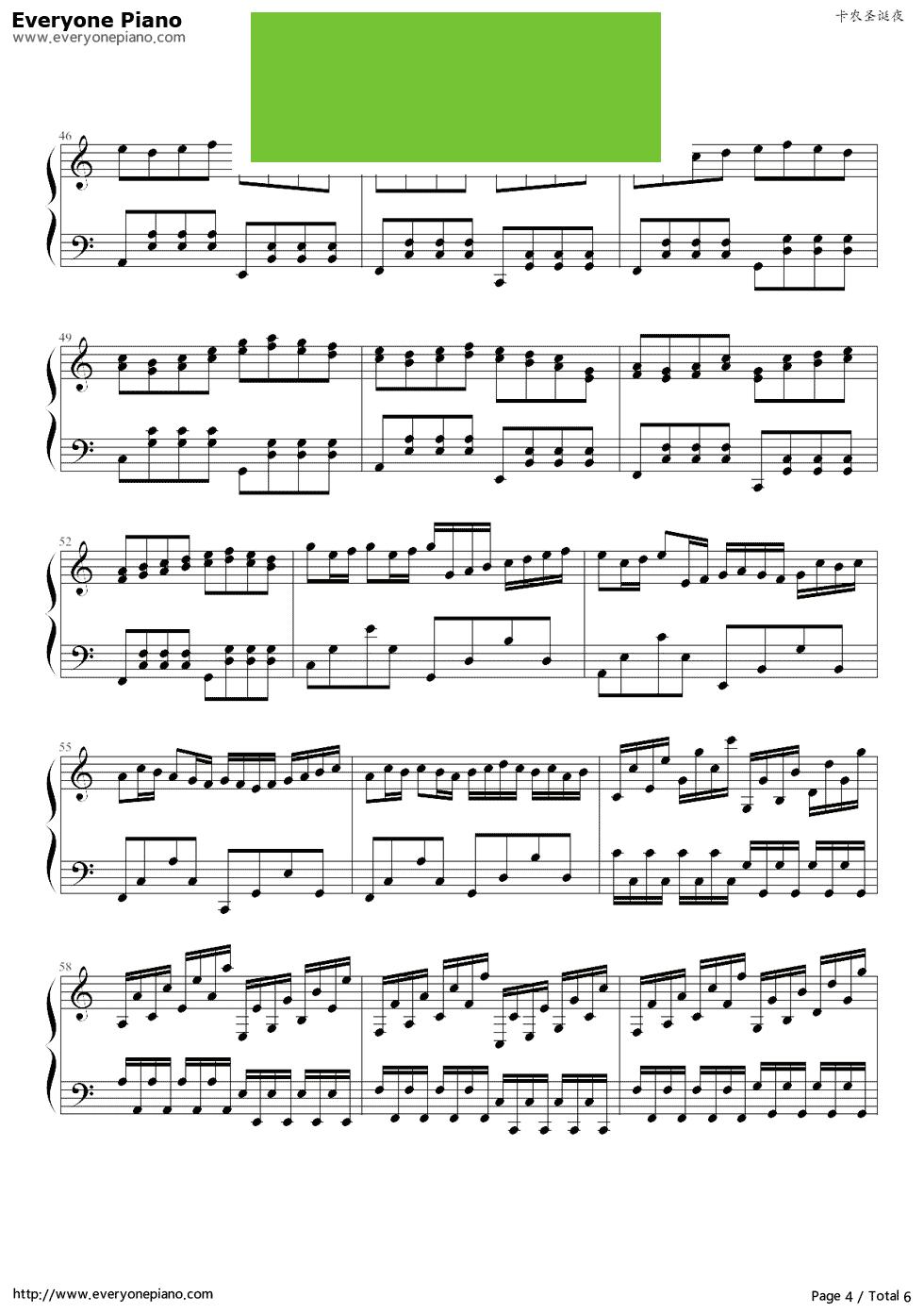 《卡农圣诞夜》 - 钢琴谱