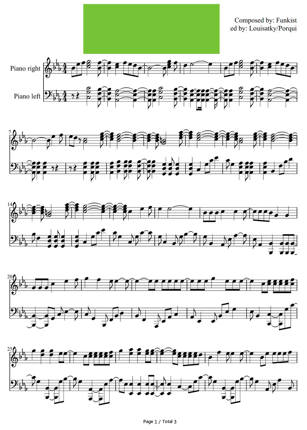妖精的尾巴 的片头曲 钢琴谱 钢琴曲谱 钢琴歌谱 好曲谱网