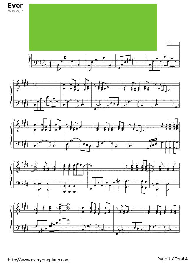 传奇合唱乐谱-饿狼传说 张学友演唱 钢琴谱  交织了火花 拘禁在沉淀