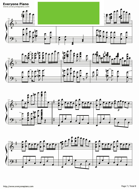 千本樱 初音未来 钢琴谱