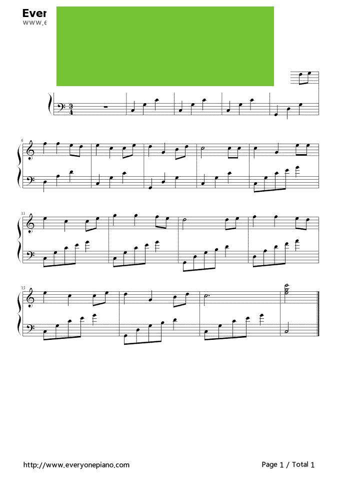 新年好小提琴五线谱