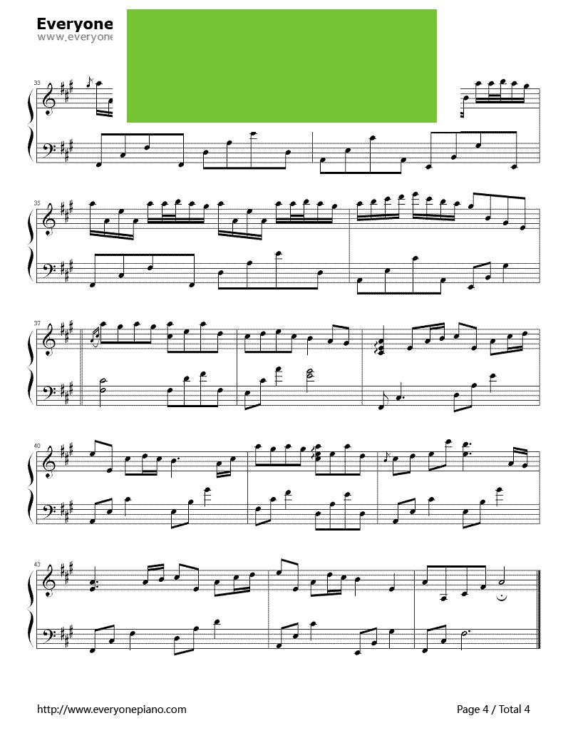 flows in you 李闰珉演唱 钢琴谱