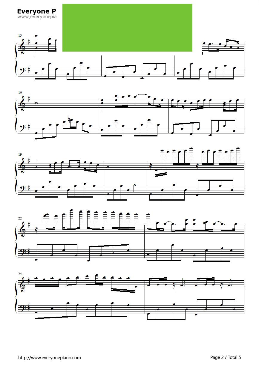 婉婷演唱) - 钢琴谱图片