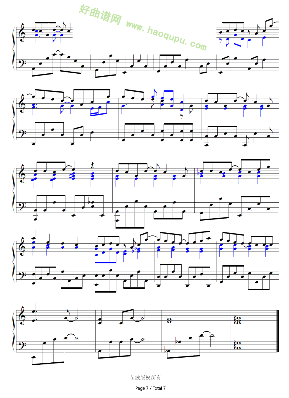 《手写的从前》(周杰伦演唱) 钢琴谱图片