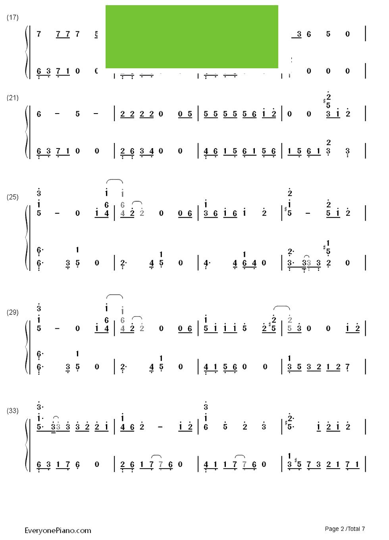 exo钢琴曲谱