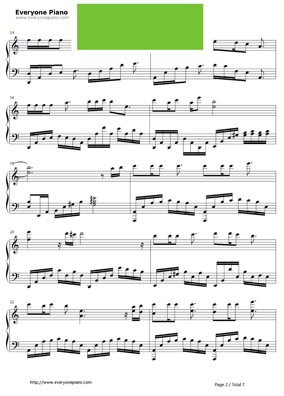 默伴奏钢琴曲谱-箫默 片尾曲 钢琴谱