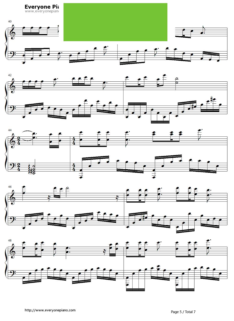 钢琴谱第5张
