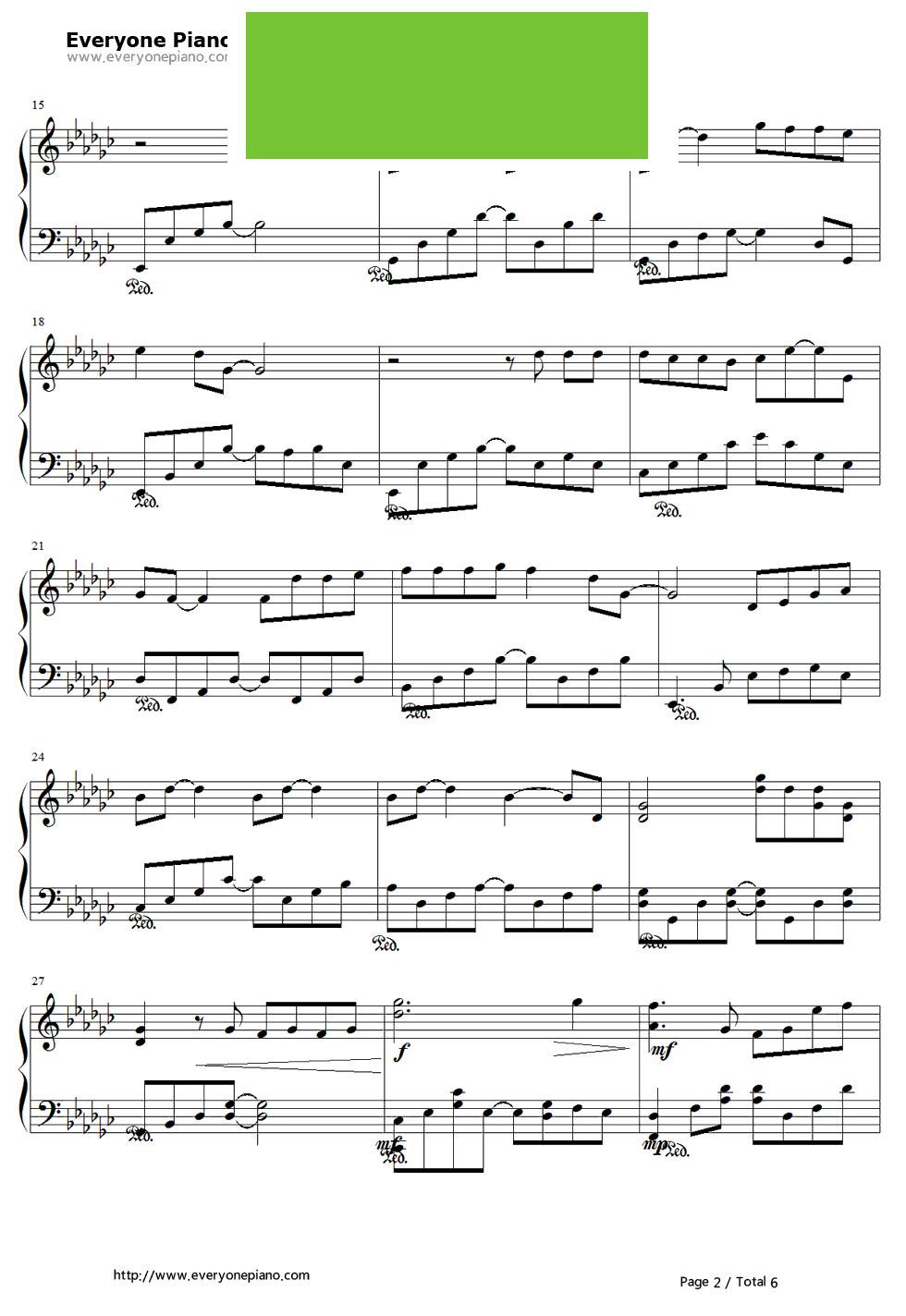 和谐中国伴奏五线谱