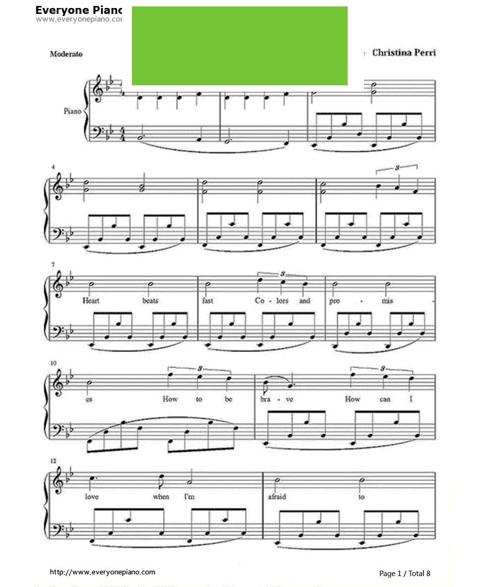 《A Thousand Years》(暮光之城插曲) 钢琴谱第1张