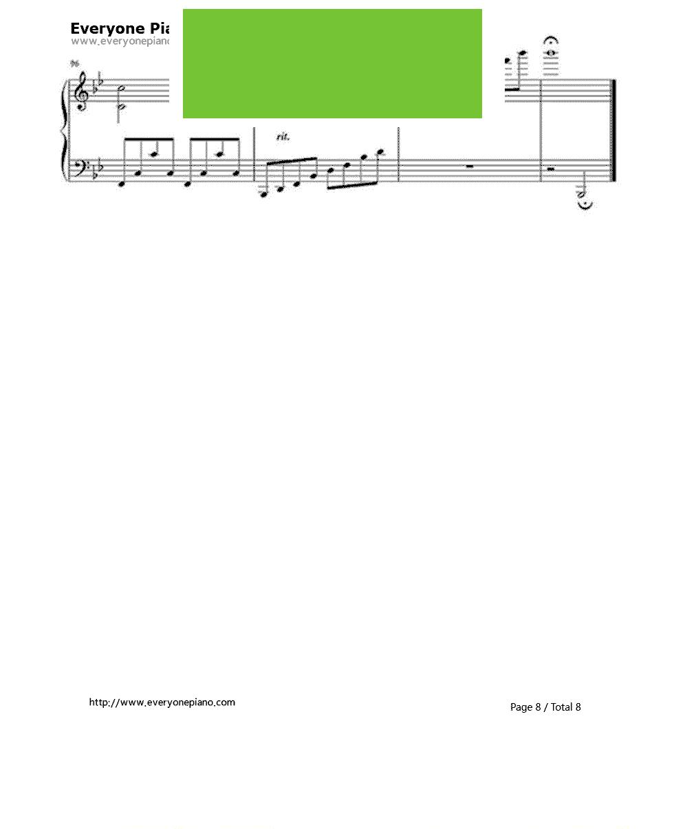 《A Thousand Years》(暮光之城插曲) 钢琴谱第8张