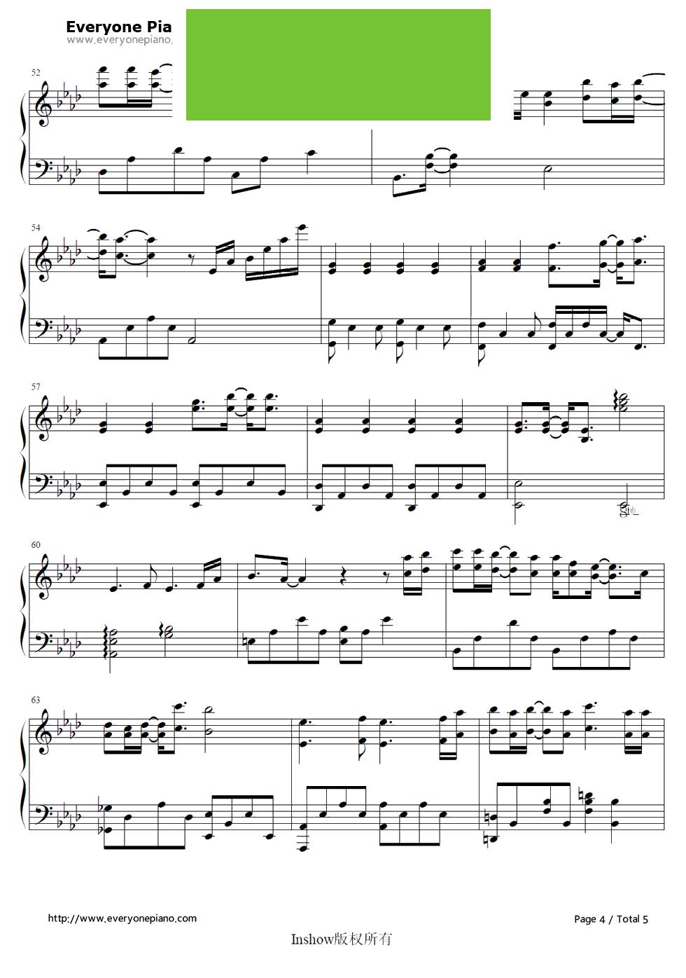 默伴奏钢琴曲谱-箫默 主题曲 钢琴谱