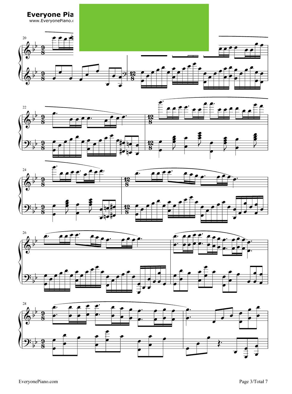 梦的婚礼钢琴曲m3 钢琴曲梦的婚礼简谱 辣二图片网图片