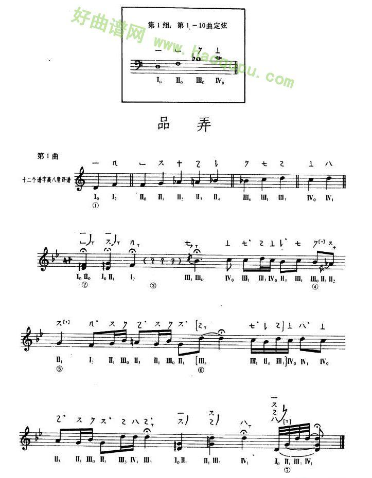 琵琶曲谱_琵琶歌谱