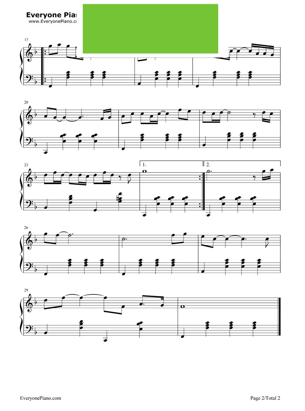 星空 钢琴谱